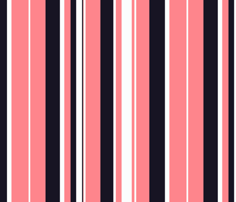 Urban girl / stripe fabric by paragonstudios on Spoonflower - custom fabric