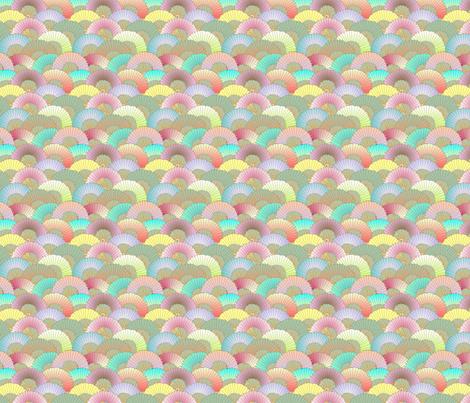 © 2011 fans fabric by glimmericks on Spoonflower - custom fabric