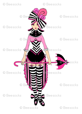 Victorian Circus Girl in Pink