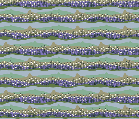 Kitty Jay Snowdrops fabric by woodledoo on Spoonflower - custom fabric