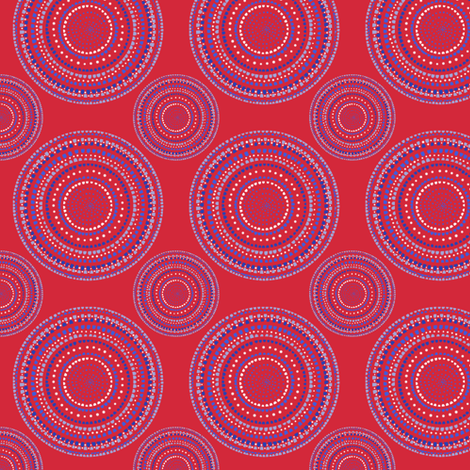 Mandala or Dancing Dervish circles on red by Su_G fabric by su_g on Spoonflower - custom fabric