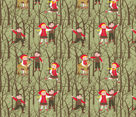 Hansel and Gretel woods fabric by cjldesigns on Spoonflower - custom fabric