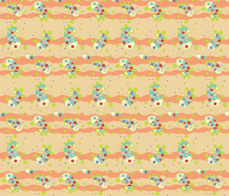 little fish fabric by claudiavv on Spoonflower - custom fabric
