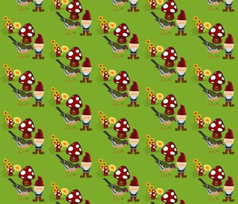 Gnomeville / secrets fabric by paragonstudios on Spoonflower - custom fabric