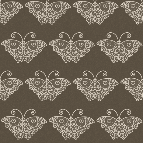 Butterfly1a_BROWN fabric by mina on Spoonflower - custom fabric