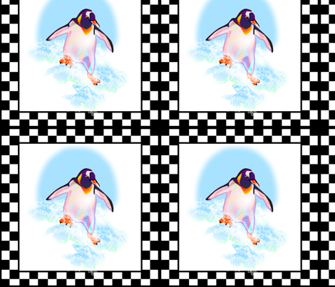 © 2011 penguin fabric by glimmericks on Spoonflower - custom fabric