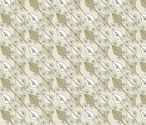 ©2011 Sandy Leaves-Midsized fabric by glimmericks on Spoonflower - custom fabric