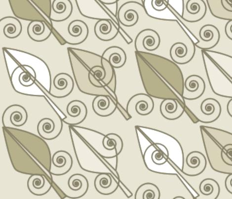 ©2011 Sandy Leaves-Large fabric by glimmericks on Spoonflower - custom fabric