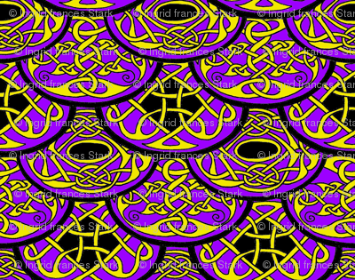 Celtic Clouds purple yellow black