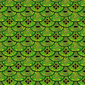 Celtic Clouds green yellow black