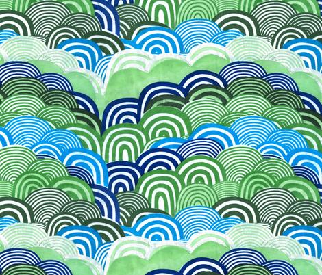 Beep hills fabric by leonielovesyou on Spoonflower - custom fabric
