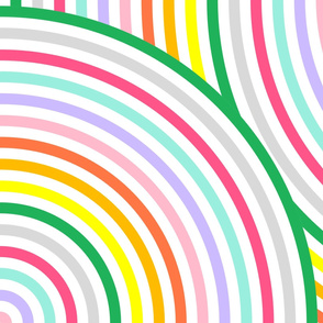 Pastel Rainbow Full Circle