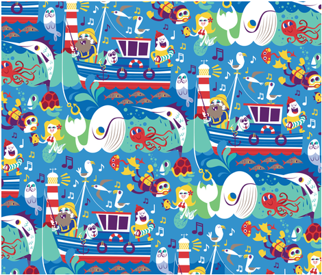 ChrisDickason_SeaShanties fabric by chrisdicko on Spoonflower - custom fabric