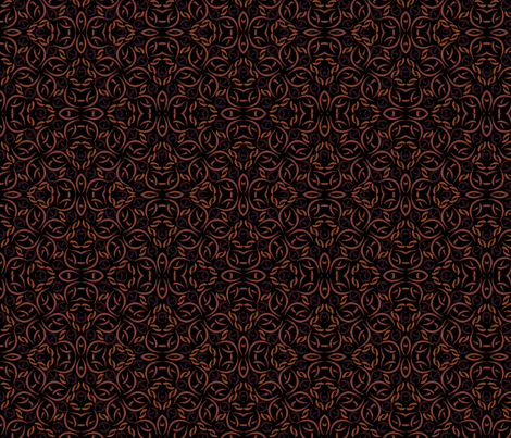 ©2011 complexfloralfiesta- copper fabric by glimmericks on Spoonflower - custom fabric