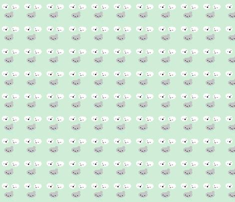 Cloud Bullies fabric by applejackkids on Spoonflower - custom fabric