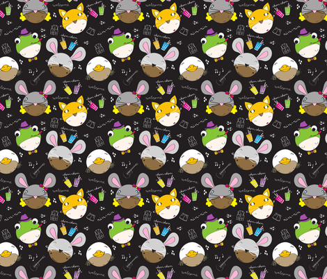 Rin-Rin Renacuajo (the tadpole) fabric by majobv on Spoonflower - custom fabric