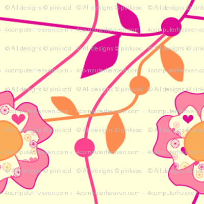 Popbi! - Sugarbaby - Floral Vines - © PinkSodaPop 4ComputerHeaven.com