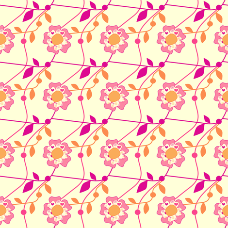 Popbi! - Sugarbaby - Floral Vines - © PinkSodaPop 4ComputerHeaven.com  fabric by pinksodapop on Spoonflower - custom fabric