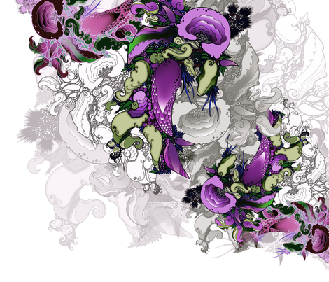 Floral ver. 3 fabric by optikmass on Spoonflower - custom fabric