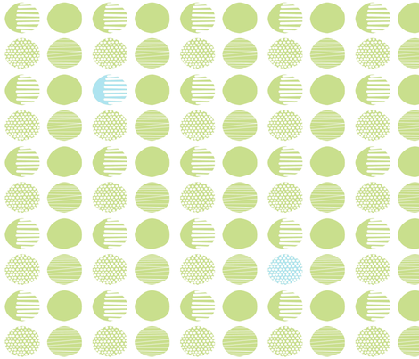 green_dots fabric by jojoebi_designs on Spoonflower - custom fabric