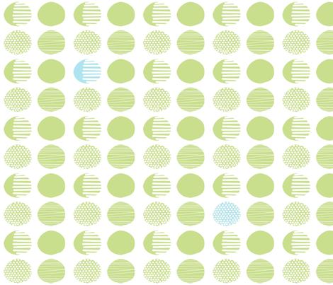 green_dots fabric by jojoebi_designs on Spoonflower - custom fabric