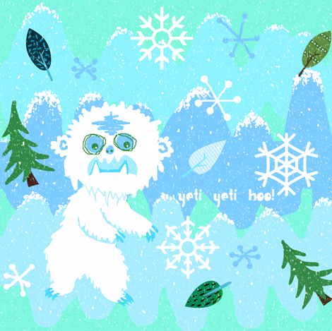 ah yeti yeti hoo! fabric by paragonstudios on Spoonflower - custom fabric