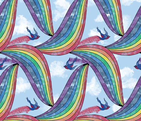 How the Rainbow was Made fabric by leighr on Spoonflower - custom fabric