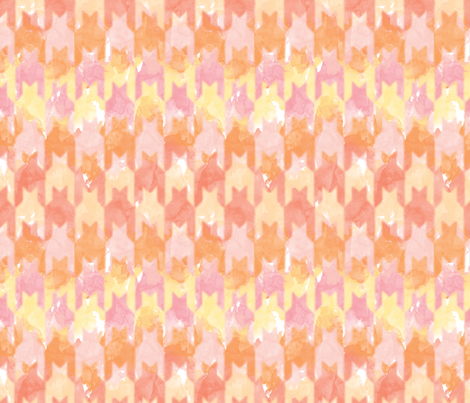 Pink Watercolor Herringbone fabric by leighr on Spoonflower - custom fabric