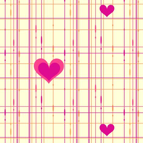 Popbi! - Sugarbaby - Criss Cross Hearts Multi - © PinkSodaPop 4ComputerHeaven.com  fabric by pinksodapop on Spoonflower - custom fabric