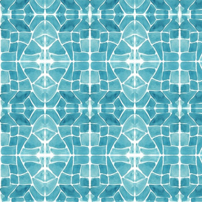 Sea Glass Mosaic_blue