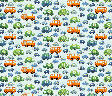 Green Wheels (small) fabric by fussypants on Spoonflower - custom fabric