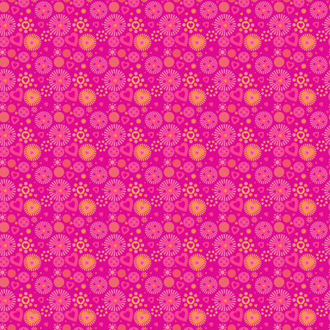 Popbi! - Sugarbaby - Love Explosion! - © PinkSodaPop 4ComputerHeaven.com fabric by pinksodapop on Spoonflower - custom fabric