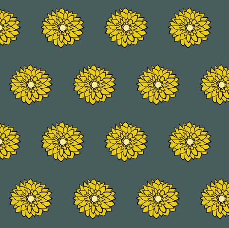 Small Daisies fabric by pond_ripple on Spoonflower - custom fabric