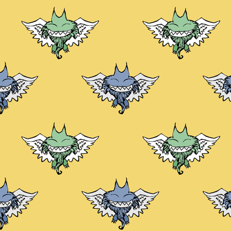 Bearded Wonders fabric by pond_ripple on Spoonflower - custom fabric