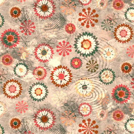 Flowers Light fabric by kezia on Spoonflower - custom fabric