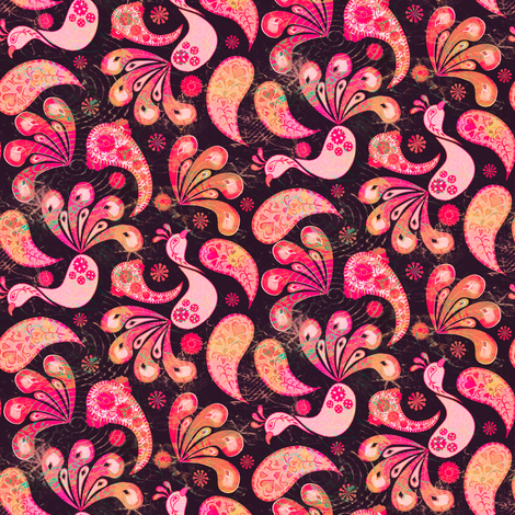 Vintage Pink fabric by kezia on Spoonflower - custom fabric