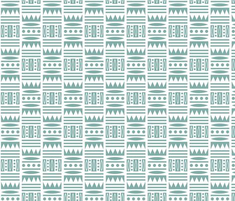 Tribal Edge - sage  fabric by andibird on Spoonflower - custom fabric