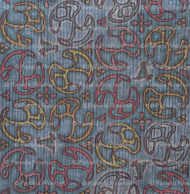 ©2011 Bird Motif - Faded Denim