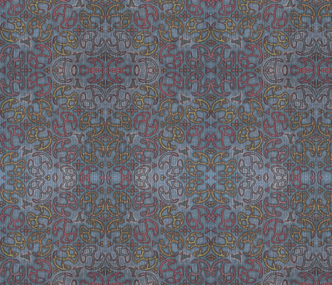 ©2011 Bird Motif - Faded Denim fabric by glimmericks on Spoonflower - custom fabric