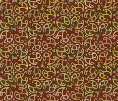 ©2011 Bird Motif - cinnamon fabric by glimmericks on Spoonflower - custom fabric