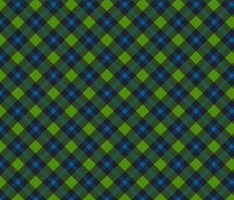 Sounders_Plaid_Jpeg fabric by biascuttweed on Spoonflower - custom fabric