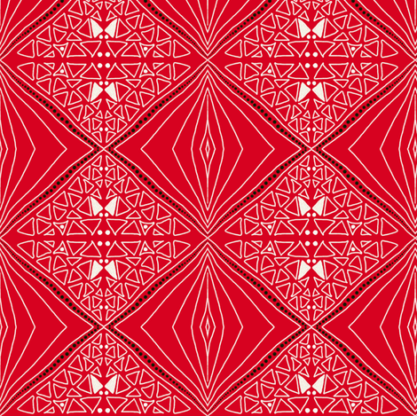 Upsy diamonds! by Su_G fabric by su_g on Spoonflower - custom fabric