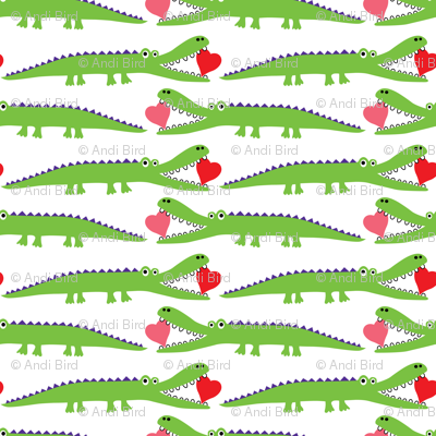 Alligator Love green - large