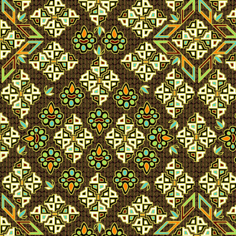 ©2011 Tribal - Bronze fabric by glimmericks on Spoonflower - custom fabric