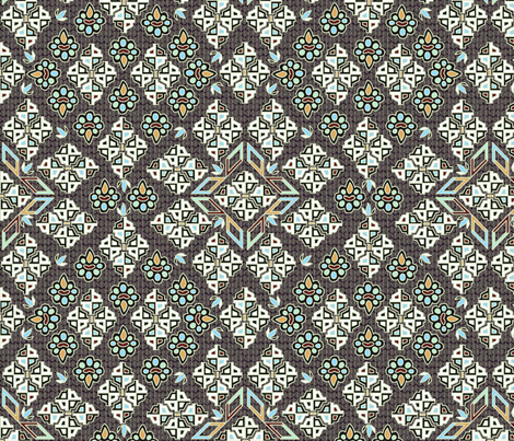 ©2011  Tribal - Silver fabric by glimmericks on Spoonflower - custom fabric