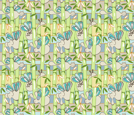 Bamboo_Patch_Large fabric by flyingtreestudios on Spoonflower - custom fabric