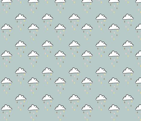 sprinkle rain clouds fabric by cherryandcinnamon on Spoonflower - custom fabric