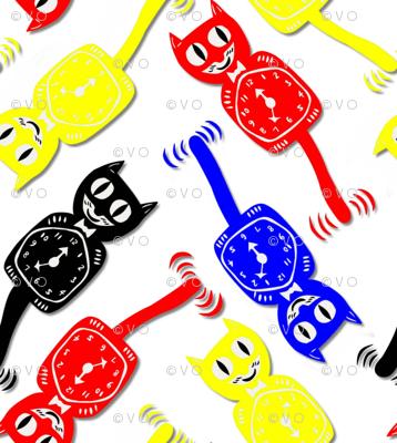 Kat clocks in cobalt