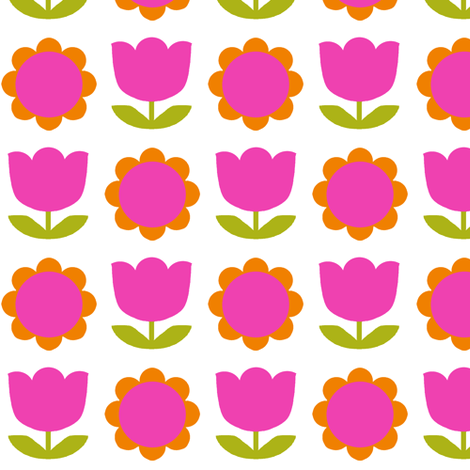 rounded_tulip pink fabric by aliceapple on Spoonflower - custom fabric