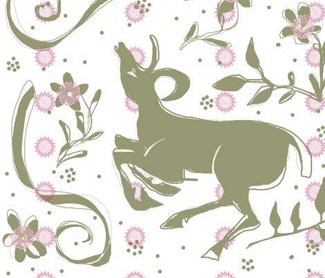 deer fabric by heavenstobetsy on Spoonflower - custom fabric
